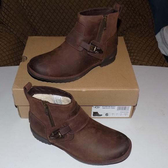 New Ugg Cheyne Leather Wool Upper Boot
